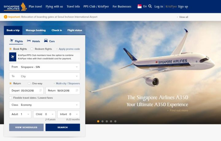 Singapore Airlines website.JPG