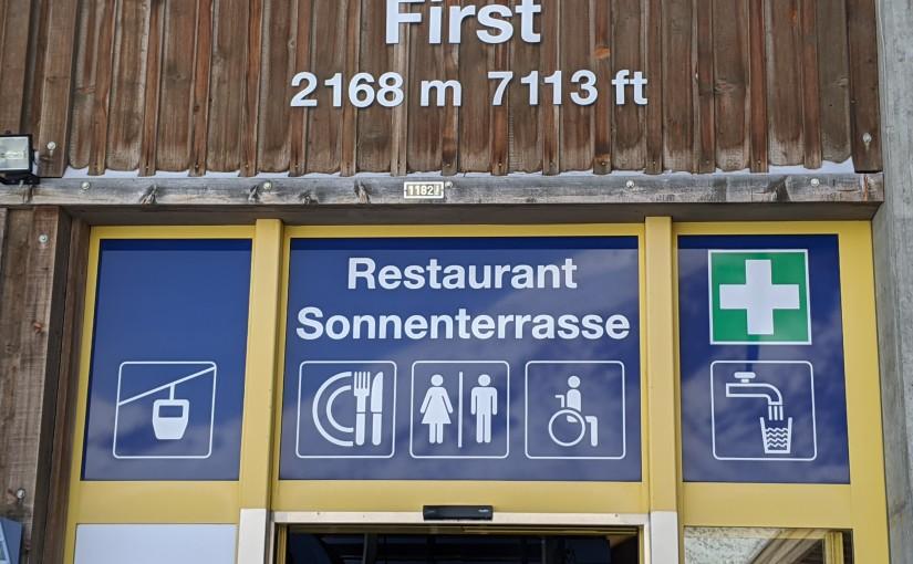 Grindelwald – Mount First instead ofJungfrau?